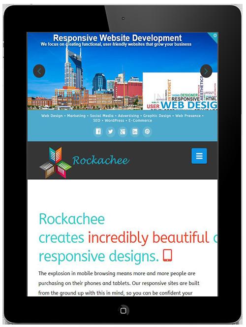 Rockachee Responsive web design
